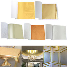 100 Sheets Gold Foil Leaf Gilding Handicrafts Craft Paper Decoration Tool FD  L3