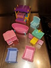 2004-6 Mattel doll house furniture trundle bed tub sink changing table chair