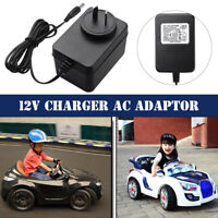 12V 1000mA Battery Charger AC Adapter For Kids Electric Ride On Car Bike Scooter