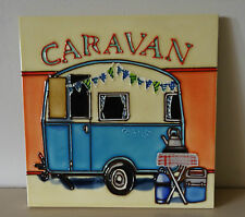 "Decorative Ceramic Picture Tile ""Caravan "" by Martin Wiscombe"