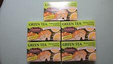 5 Celestial Seasonings Green Tea Honey Lemon Ginseng White 20 Tea Bags T-19