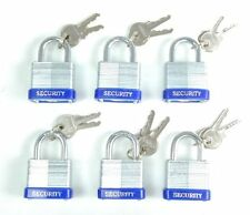 40 mm Padlock - 6 pc keyed alike - 1-1/2