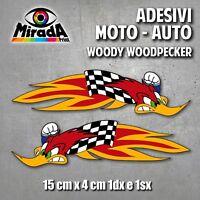 ADESIVI STICKER WOODY WOODPECKER MOTOCROSS AMA ONDA PICCHIARELLO BIRD SBK  MOTO