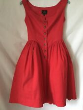 LAdies Pure Cotton Sleeveless Dress By VIVIENNE WESTWOOD ANGLOMANIA. Size 40 (XS