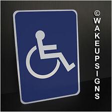 """Handicap SIGN ALUMINUM METAL STREET TAFFIC 7"""" X 10"""" PARKING WHEEEL CHAIR ACCESS"""