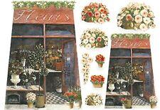 Papier de riz DFS076 Boutique de fleurs Rice Paper Florist shop serviette