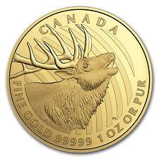 2017 Canada 1 oz Gold Elk .99999 Proof