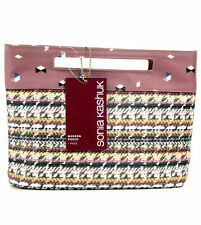 SONIA KASHUK Modern Pouch Cosmetic Bag Broken Houndstooth