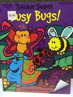 Lot of 10 BUSY BUGS! Sticker Shapes Coloring Activity Book