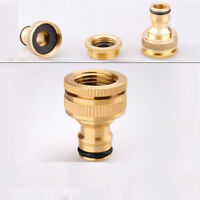 Brass Hose Connector garden tap watering pipe Quick Adapter Fitting Switcher New