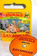DISCOVER WORLD OF ANIMALS DVD  EDUCATIONAL,SAVANNAH, LIONS, TIGERS, ELEPHANTS,