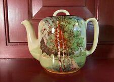 Royal Doulton England Autumn Glory Art Deco Tea Pot c.1923-27 / Charles Noke