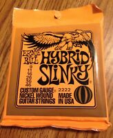 NEW Ernie Ball Hybrid Slinky Nickel wound electric guitar strings P02222