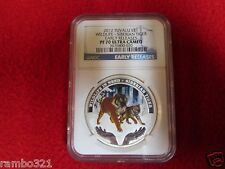 2012 Tuvalu Wildlife SIBERIAN TIGER 1oz .999 Silver Proof Coin NGC PF70 hot