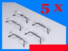 /NEU/ 5 st. Lesebrillen silber  Brillen Stärke +2,00 Dioptrien mit Federung