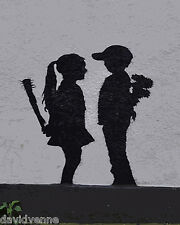 Banksy Grafitti reproduction on Canvas 8 x 10 inch giclee Print