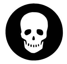 75mm Skull Sticker for Harley Indian West Coast Chopper Bike Pirate Spooky Bones