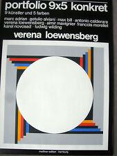 Verena Loewensberg - 1976-farbsieb pression-austellungsplakat portefeuille 9x5