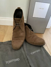 Tom Ford Mens Ron Suede Chukka Brown Desert Boots 10.5T Uk 9.5 J0872T 🇮🇹 Boxed
