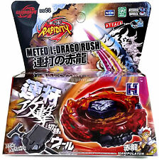 Ultimate Meteo L-Drago Rush Red Metal Masters Beyblade NIP + Launcher - US SELLR