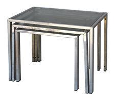 Série de  tables gigognes vintage 1970 style Jansen