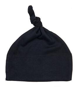 Black Baby Hat One Knot Soft Cotton Hat Head wear Boy Gift