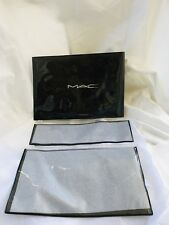 MAC Cosmetics Clear Cosmetic / Brush Bag Set of 2