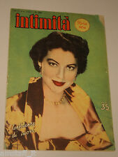 INTIMITA rivista 7 LUGLIO 1951 n. 280 = AVA GARDNER cover magazine =