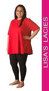 Lisa's Lacies - Super Tee Shirt Round Neck Plus Size - Sizes 16-36 in 5 Colours!