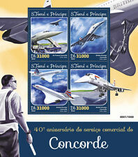 Sao Tome & Principe 2016 MNH Concorde Commercial Service 4v M/S Aviation Stamps