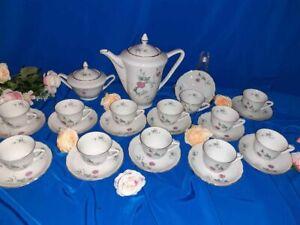 Set 12 tazzine da caffè + caffettiera + zuccheriera in porcellana Durken VINTAGE