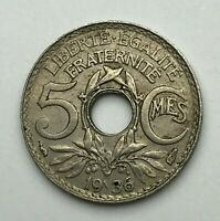 Dated : 1936 - France - 5 Centimes - 5c Coin - French Coin