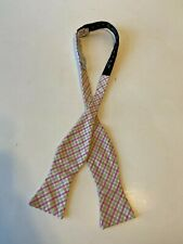 High Cotton Men's Striped Bow Tie Pink and Green Exc Cond Adjustable
