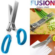 Shredding Scissors 5 Blade Shears Shedd Paper Document Kitchen Vegetable Herbs
