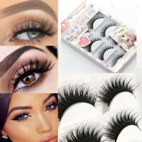 10 Pairs Handmade Real Mink 3D Full volume False Eyelashes Thick Long Lashes~