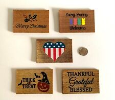 Dollhouse 5 Holiday Doormats 4th of July Halloween Thanksgiving Christmas Easter