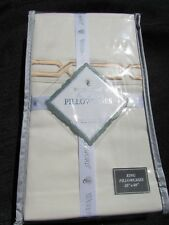 NWT Waterford Linens Sedgwick Ivory Pair of King Pillowcases NEW IN PACKAGE