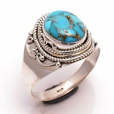 ANELLO DONNA ARGENTO 925 RING SILVER STERLING TURCHESE RAME COPPER TURQUOISE 20