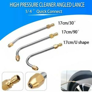 30°/90°/U-Shape Pressure Car Washer Angled Lance Extension Spray Wand Nozzle New