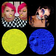 "2 Eyeshadow Pigment Ultra Bright Glam Matte ""Bright Yellow"" & ""Cobalt 3 Gram Jar"