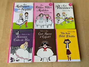 lot 6 livres Comtesse de Ségur - Collection la bibliothèque rose récents