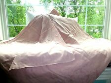 MACY'S Blush Pink DAMASK TEXTURED MEDALLION PAISLEY Full Queen Size DUVET COVER