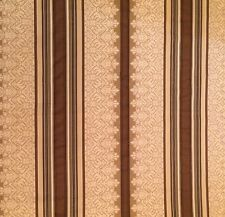 PIERRE FREY Rayure ADANA neige viscose cotton stripe brown cream woven New $40.