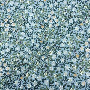 William Morris Clover Mural V&A 100% cotton blue green floral fabric half metre