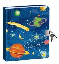 Boys Girls 4+ Peaceable Kingdom Space Glow Lock/Key Diary Journal 2 Keys