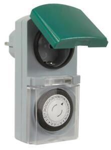 Zeitschaltuhr mechanisch Outdoor IP44 16A für Außen und Innen Timer Analog