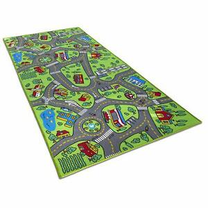 """Kids Carpet Playmat Rug City Life Great For Playing W/ Cars & Toys  L 60"""" x 32""""!"""