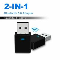 2 in 1 Bluetooth 5.0 AUX 3.5mm Transmitter Receiver Stereo Transmitter Receiver