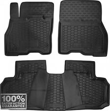 Rubber Carmats for Nissan Leaf 2010-2016 All Weather Floor Mats Fully Tailored