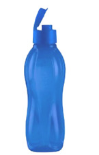 Tupperware Large Water Bottle 1L Tumbler with Drink Seal Rare Electric Blue New